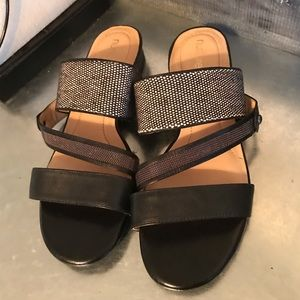 Nurture black slide sandals